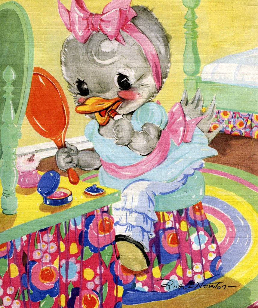 Detail of Goosey Goosey Gander illustration by Corbis