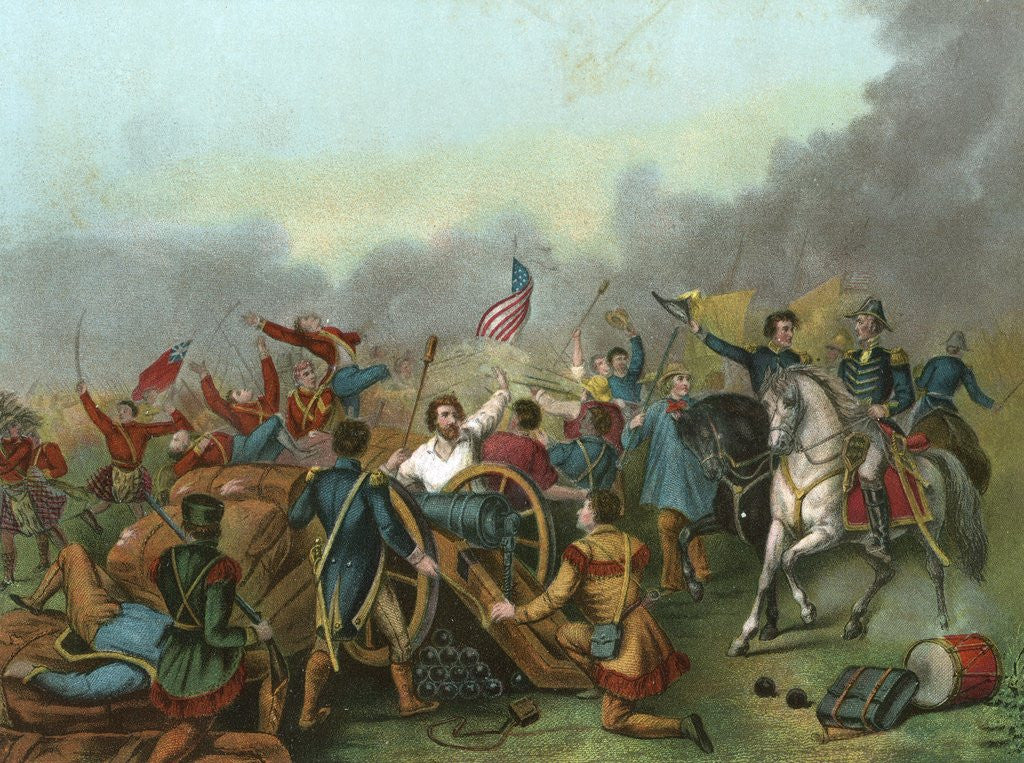 Detail of Andrew Jackson at the Battle of New Orleans. by Corbis