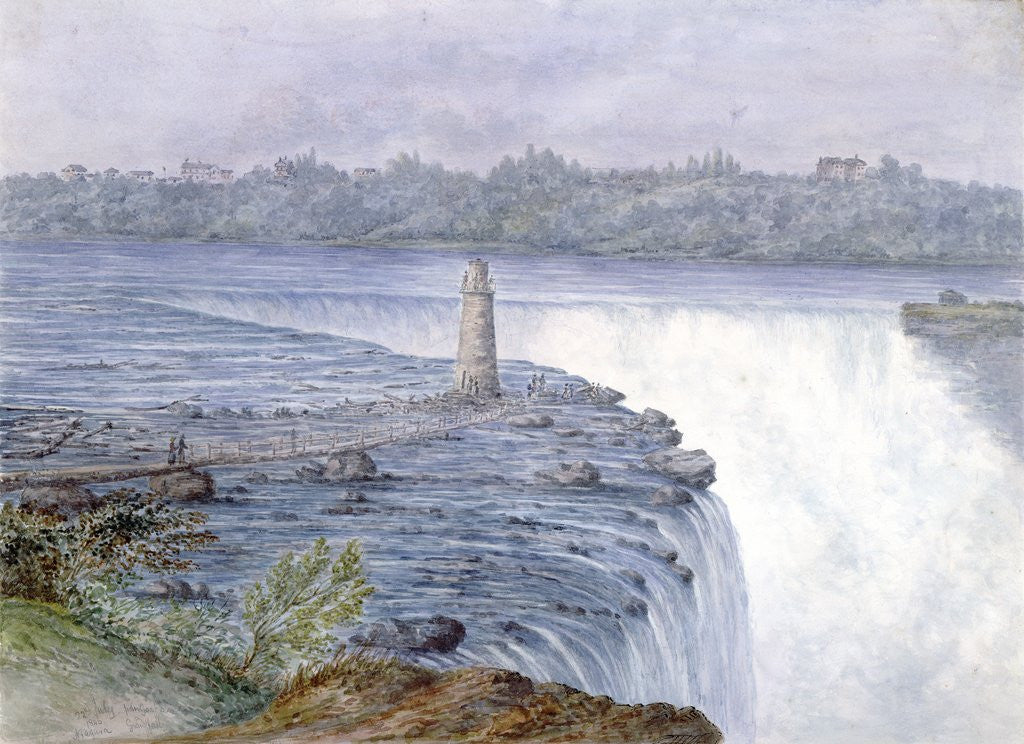 Detail of Grand Falls of the Niagara from the Observatory at Goat Island, July 22, 1846 by Michael Seymour