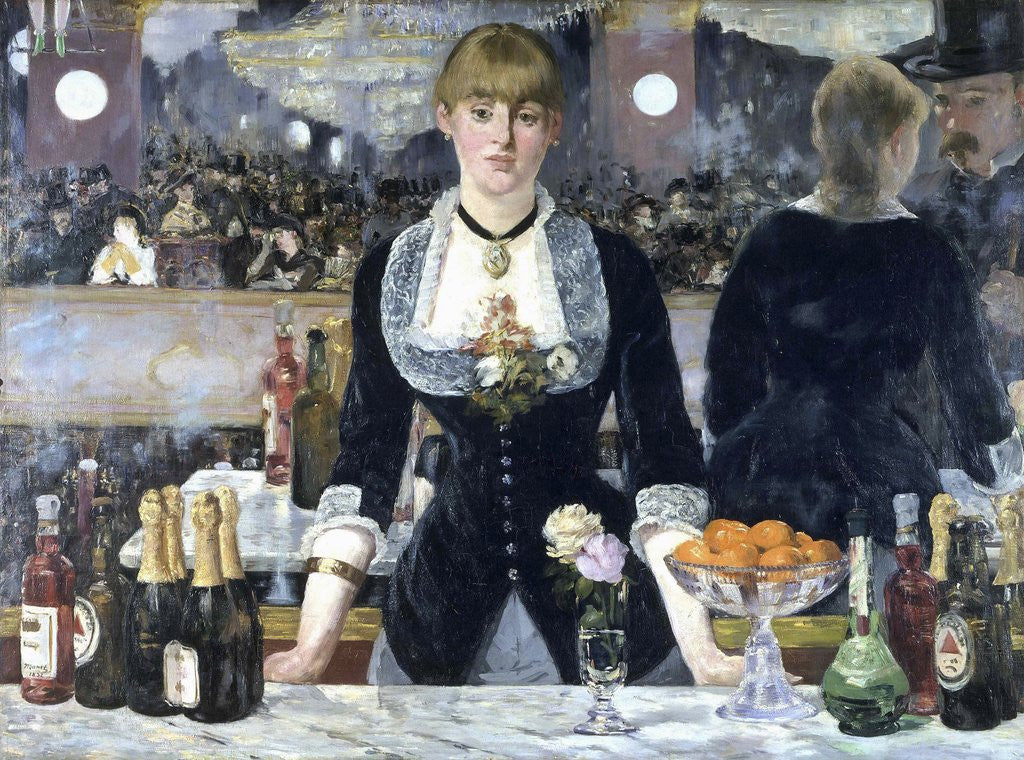 Detail of A Bar at the Folies-Bergère by Edouard Manet