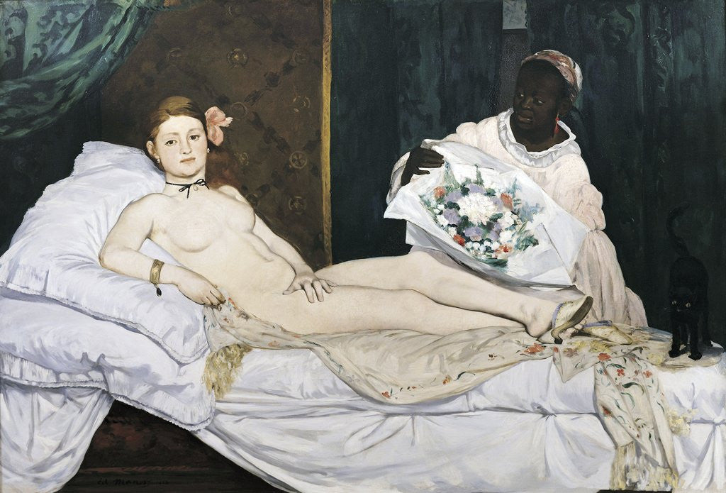 Detail of Olympia by Edouard Manet