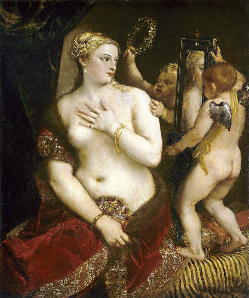 Detail of Venus with a Mirror by Titian