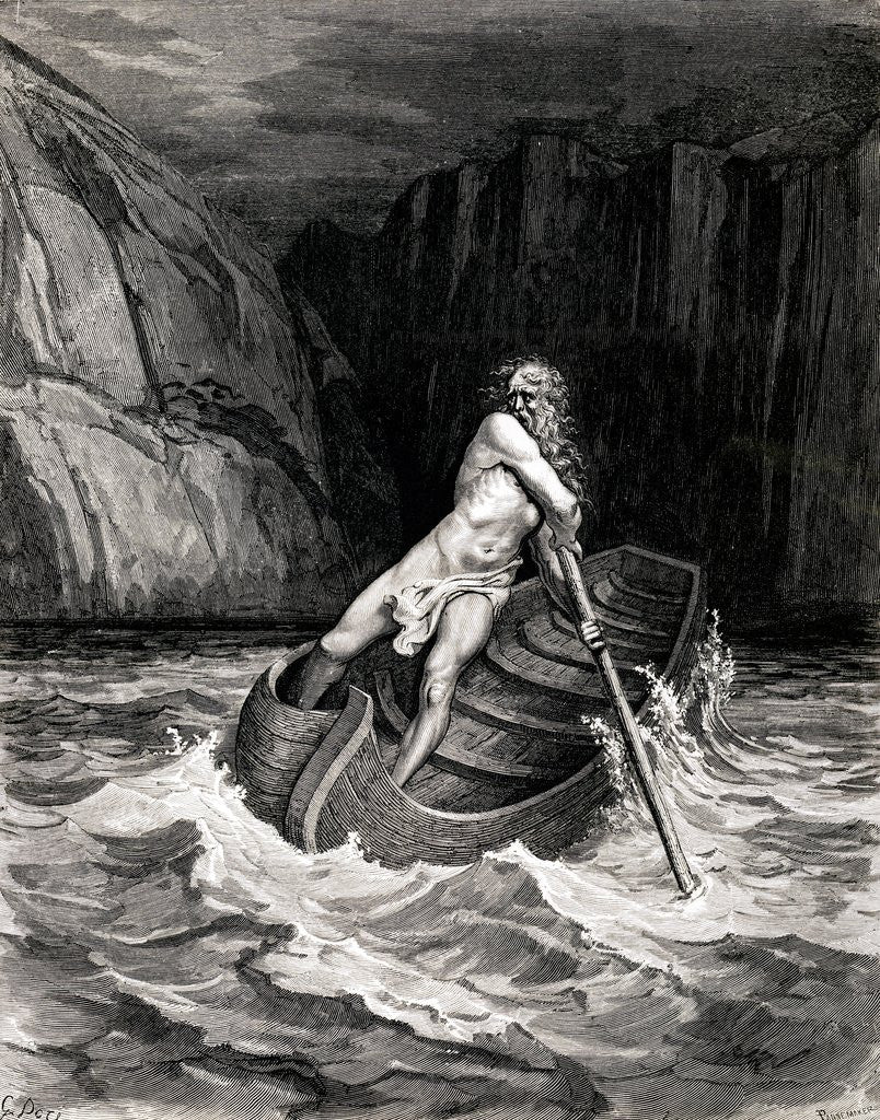 Detail of Arrival of Charon by Gustave Dore