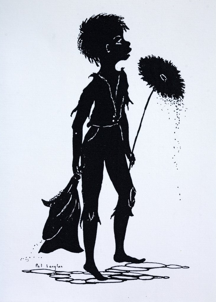 Silhouette Of A Victorian Child Chimney Sweep Posters