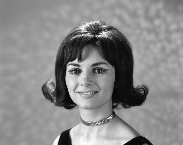 1960s 1970s Portrait Smiling Brunette Woman Flip Hair