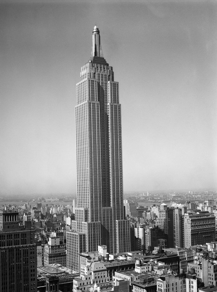 Empire State Building: 1930s New York City Empire State Building Full Length
