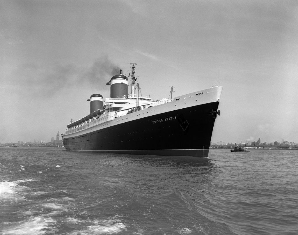 Detail of 1950s ss united states passenger steamship ocean liner by Corbis