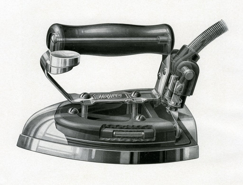 Detail of Vintage engraving of an early electric iron by Corbis