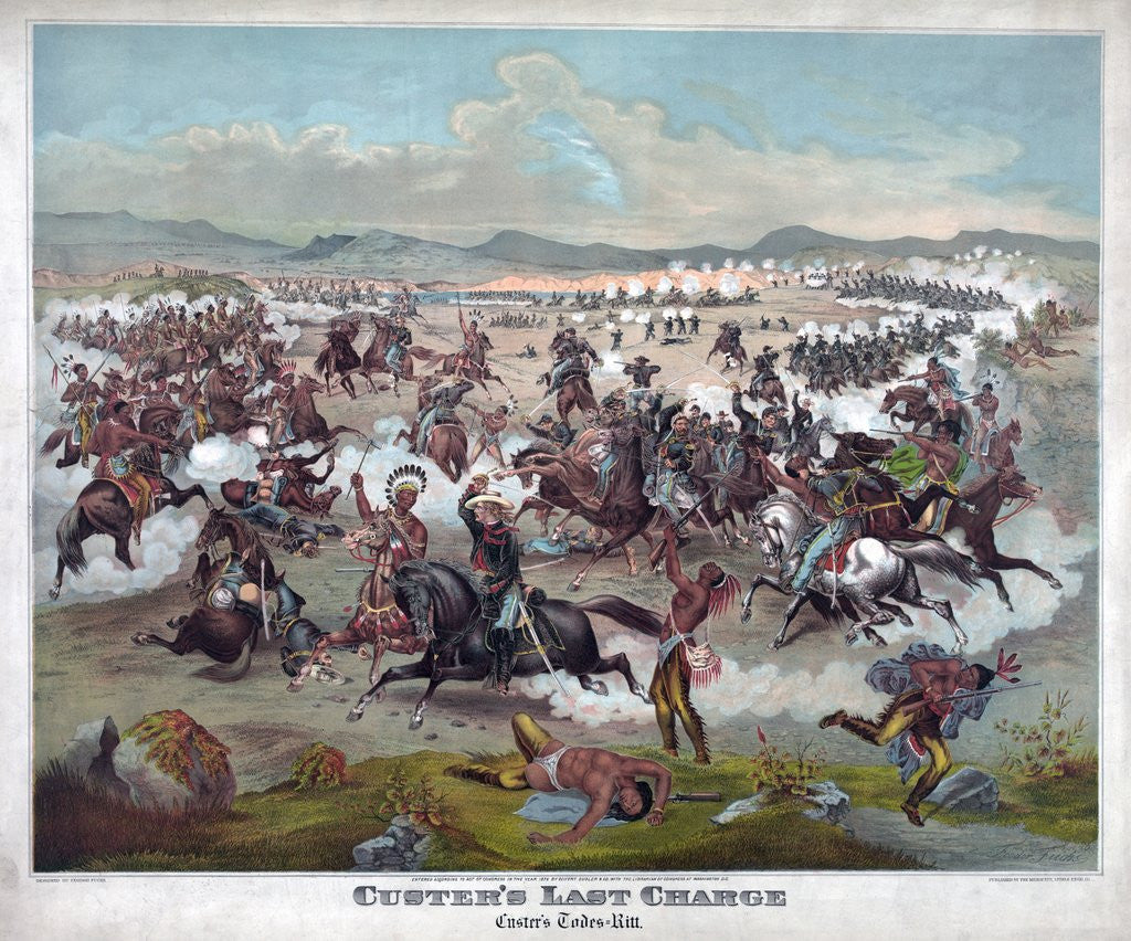 Detail of Custer's Last Charge by Corbis