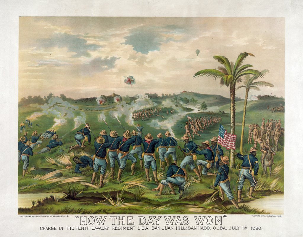 Detail of Battle of San Juan Hill by Corbis