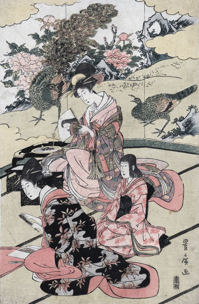 Detail of A Daimy�'s mansion by Utagawa Toyohiro