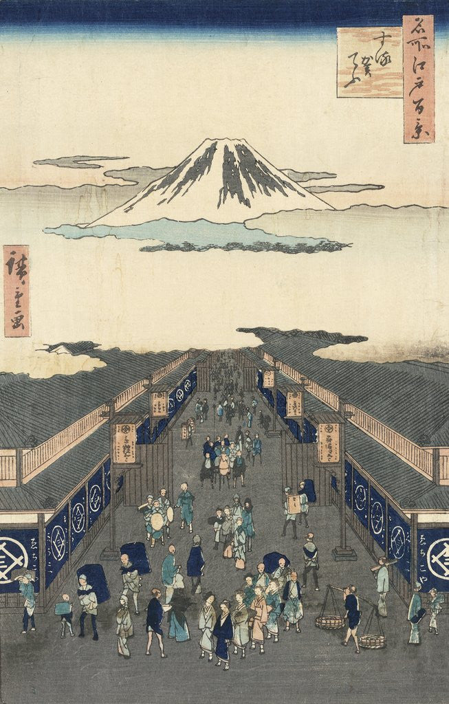 Detail of Surugach� by Ando Hiroshige