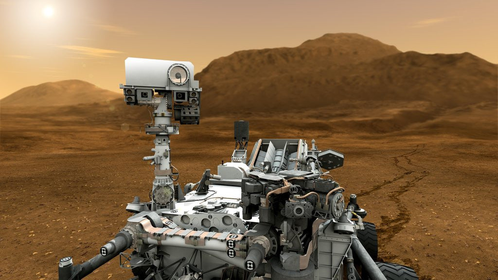 Detail of Curiosity Rover on Mars by Corbis