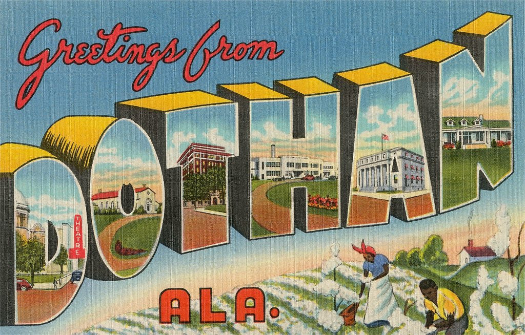 Detail of Greetings from Dothan, Alabama by Corbis