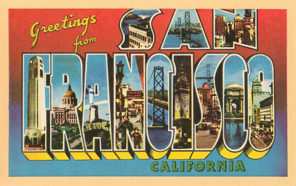 Greetings from san francisco california posters prints by corbis detail of greetings from san francisco california by corbis m4hsunfo