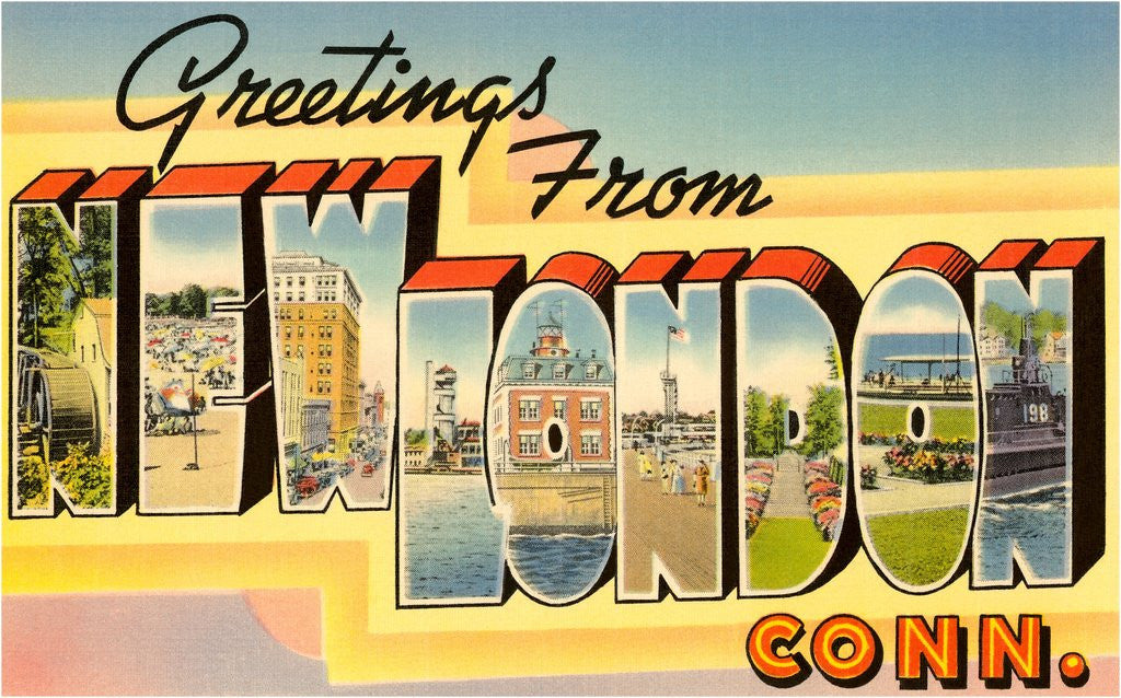 Detail of Greetings from New London, Connecticut by Corbis