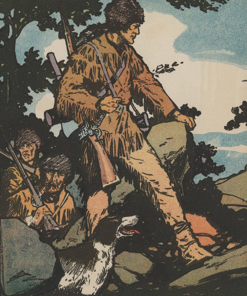 Detail of Daniel Boone by Corbis