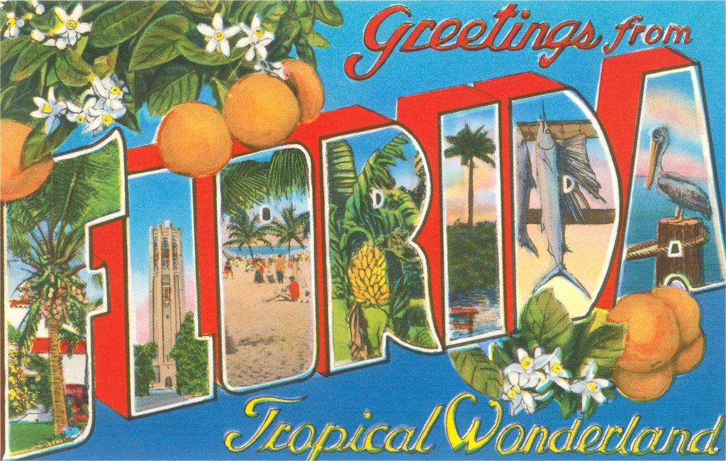 Detail of Greetings from Florida, Tropical Wonderland by Corbis