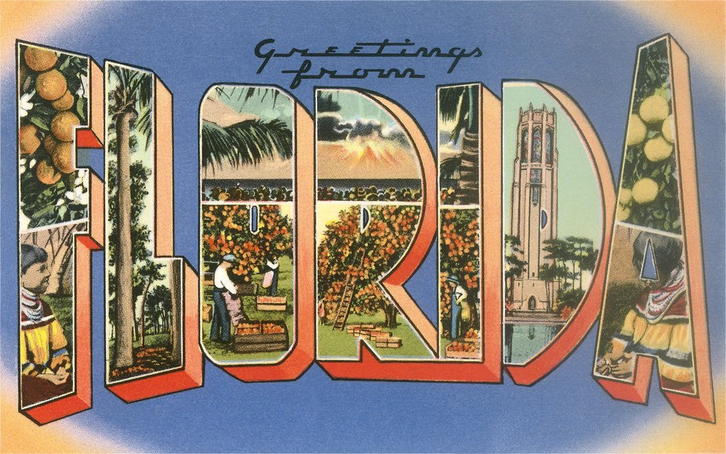 Detail of Greetings from Florida by Corbis