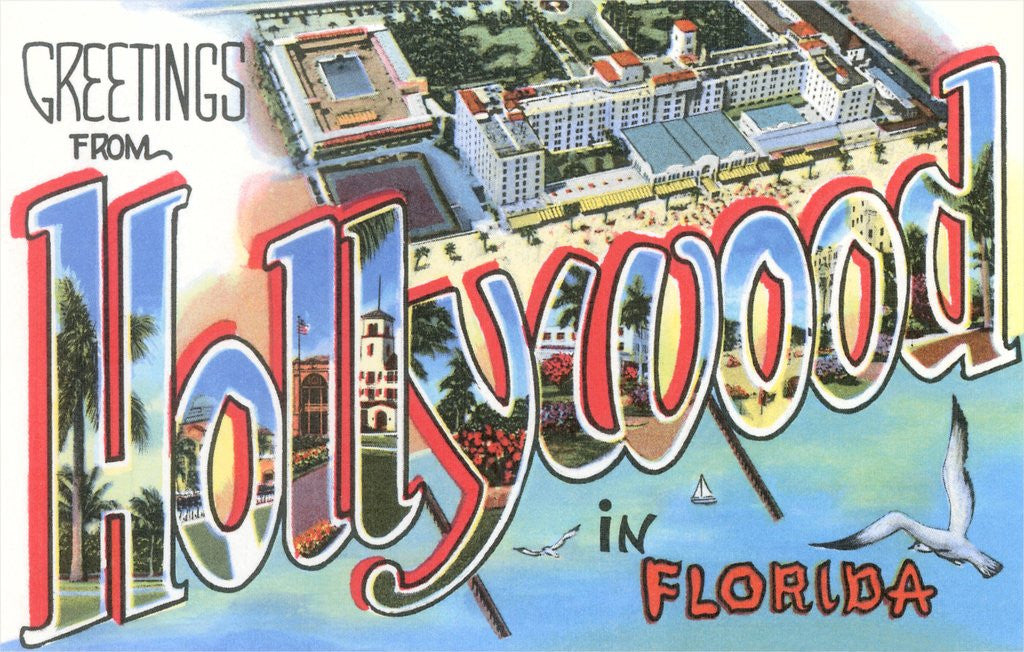 Detail of Greetings from Hollywood in Florida by Corbis
