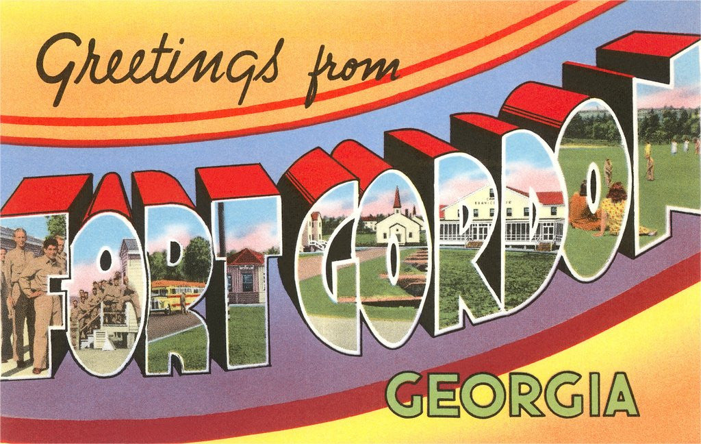 Detail of Greetings from Fort Gordon, Georgia by Corbis