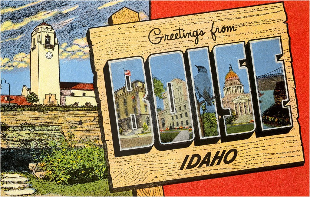 Detail of Greetings from Boise, Idaho by Corbis