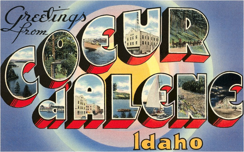 Detail of Greetings from Coeur d'Alene, Idaho by Corbis