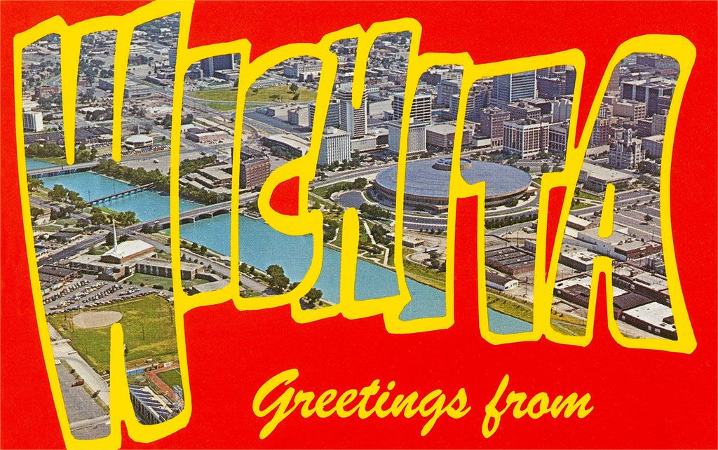 Detail of Greetings from Wichita, Kansas by Corbis