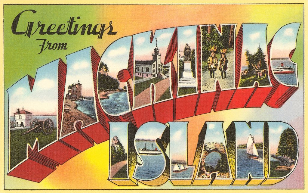 Detail of Greetings from Mackinac Island, Michigan by Corbis