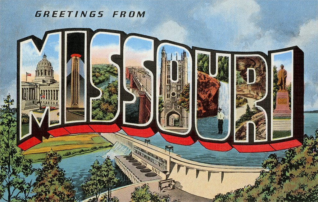 Detail of Greetings from Missouri by Corbis