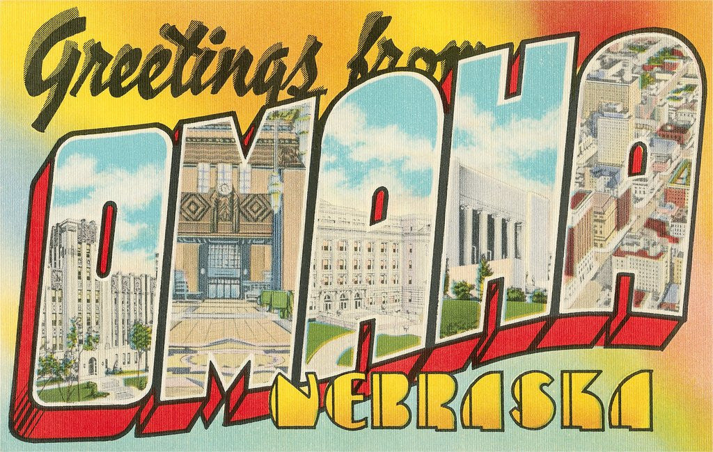 Detail of Greetings from Omaha, Nebraska by Corbis