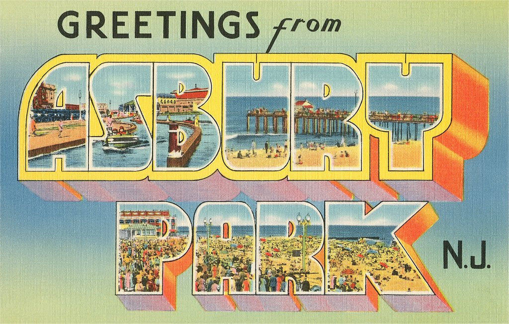 Detail of Greetings from Asbury Park, New Jersey by Corbis