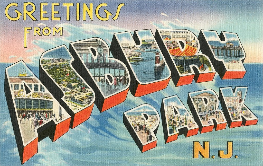 Greetings from asbury park new jersey posters prints by corbis detail of greetings from asbury park new jersey by corbis m4hsunfo