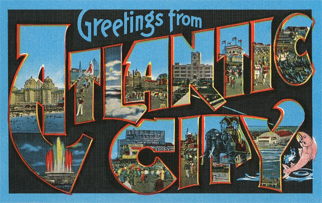 Detail of Greetings from Atlantic City, New Jersey by Corbis