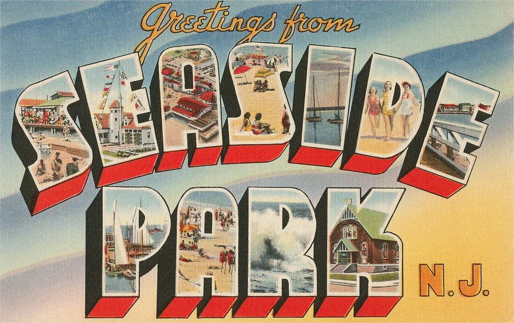 Detail of Greetings from Seaside Park, New Jersey by Corbis