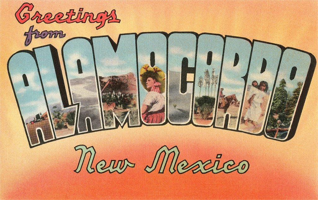 Detail of Greetings from Alamogordo, New Mexico by Corbis