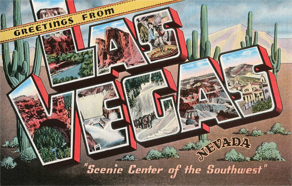 Detail of Greetings from Las Vegas, Nevada, Scenic Center of the Southwest by Corbis