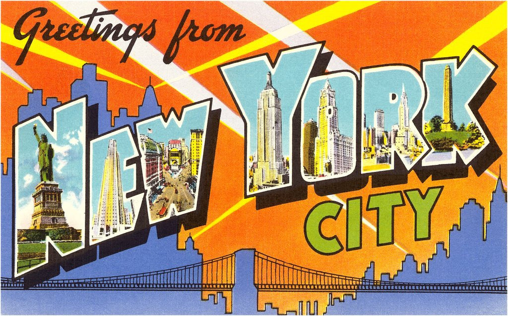 Detail of Greetings from New York City by Corbis