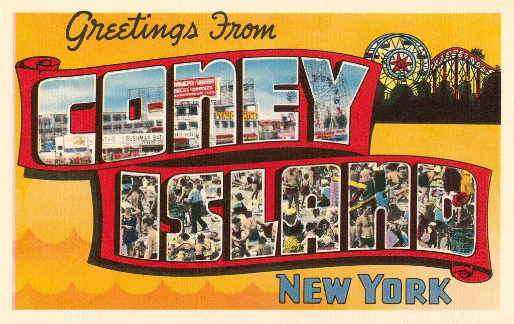 Detail of Greetings from Coney Island, New York by Corbis