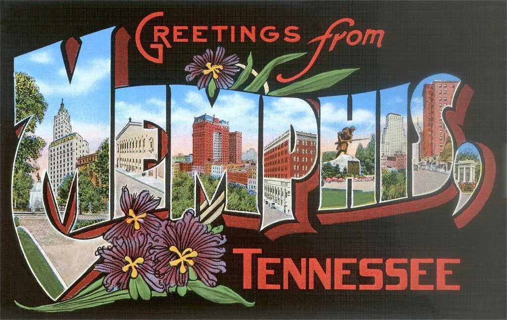 Detail of Greetings from Memphis, Tennessee by Corbis