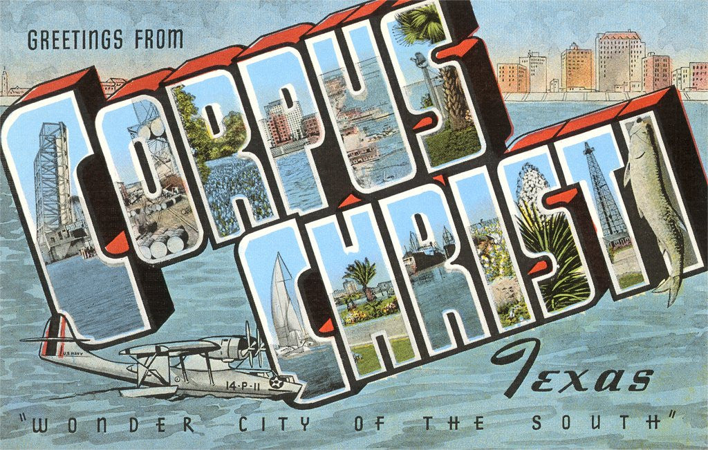 Detail of Greetings from Corpus Christi, Texas, Wonder City of the South by Corbis