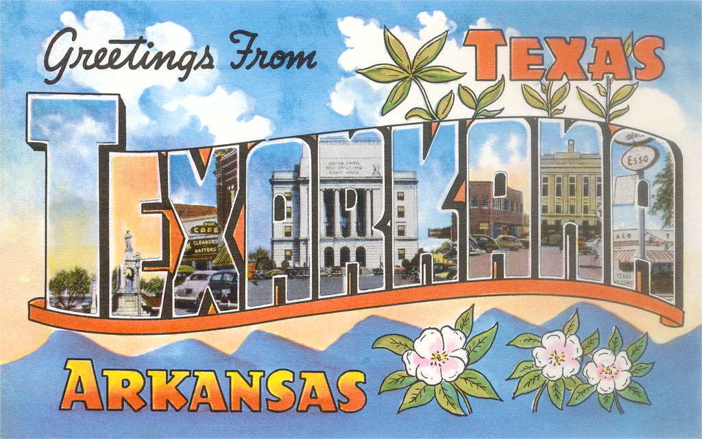 Detail of Greetings from Texarkana, Texas by Corbis