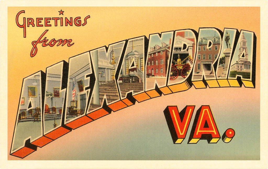 Detail of Greetings from Alexandria, Virginia by Corbis