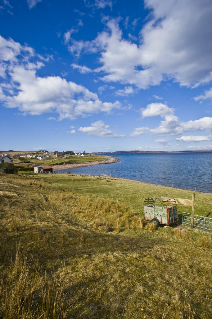 Detail of Small village by lake shore,Poolewe, Scotland, United Kingdom by Corbis