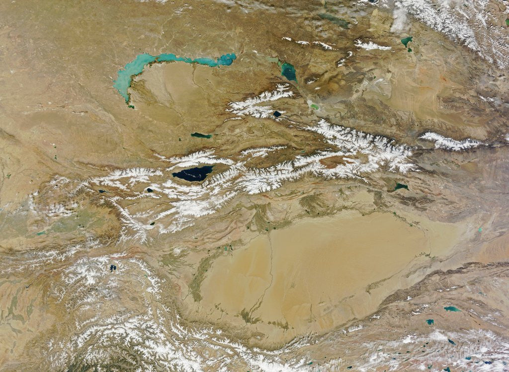 Detail of Central Asia and the Takla Makan Desert by Corbis