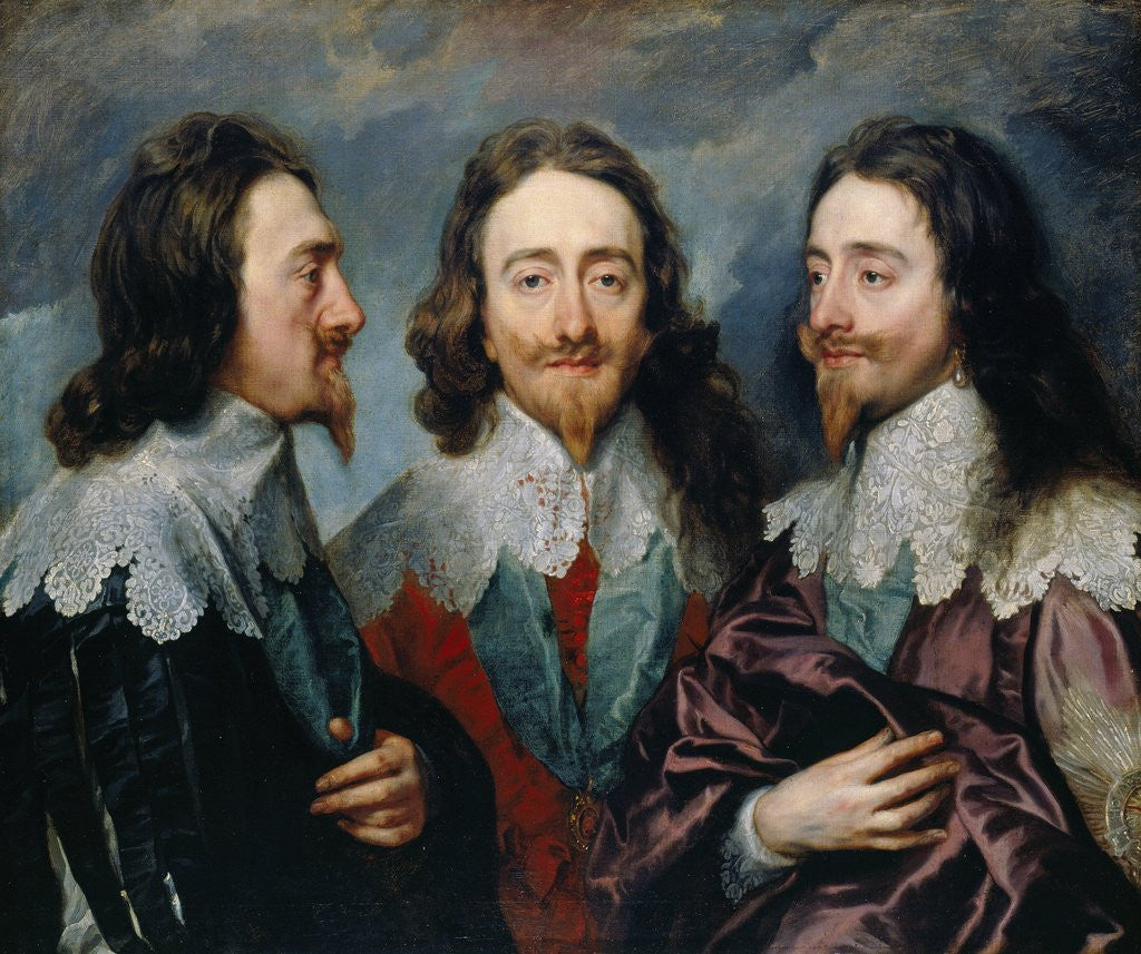 Detail of Charles I by Anthony van Dyck