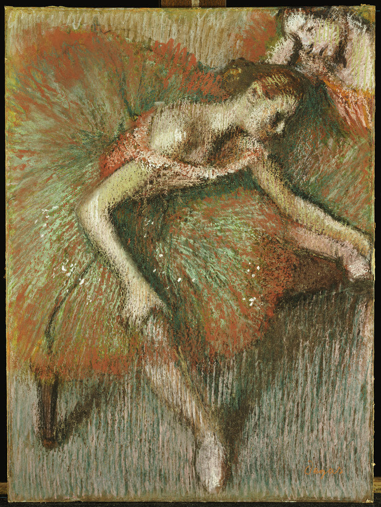 Detail of Dancers by Edgar Degas