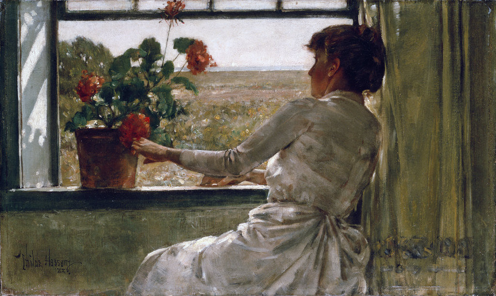 Detail of Summer Evening by Frederick Childe Hassam
