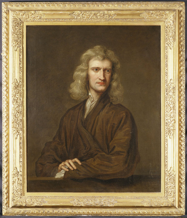 Portrait of Sir Isaac Newton posters & prints by Godfrey ...