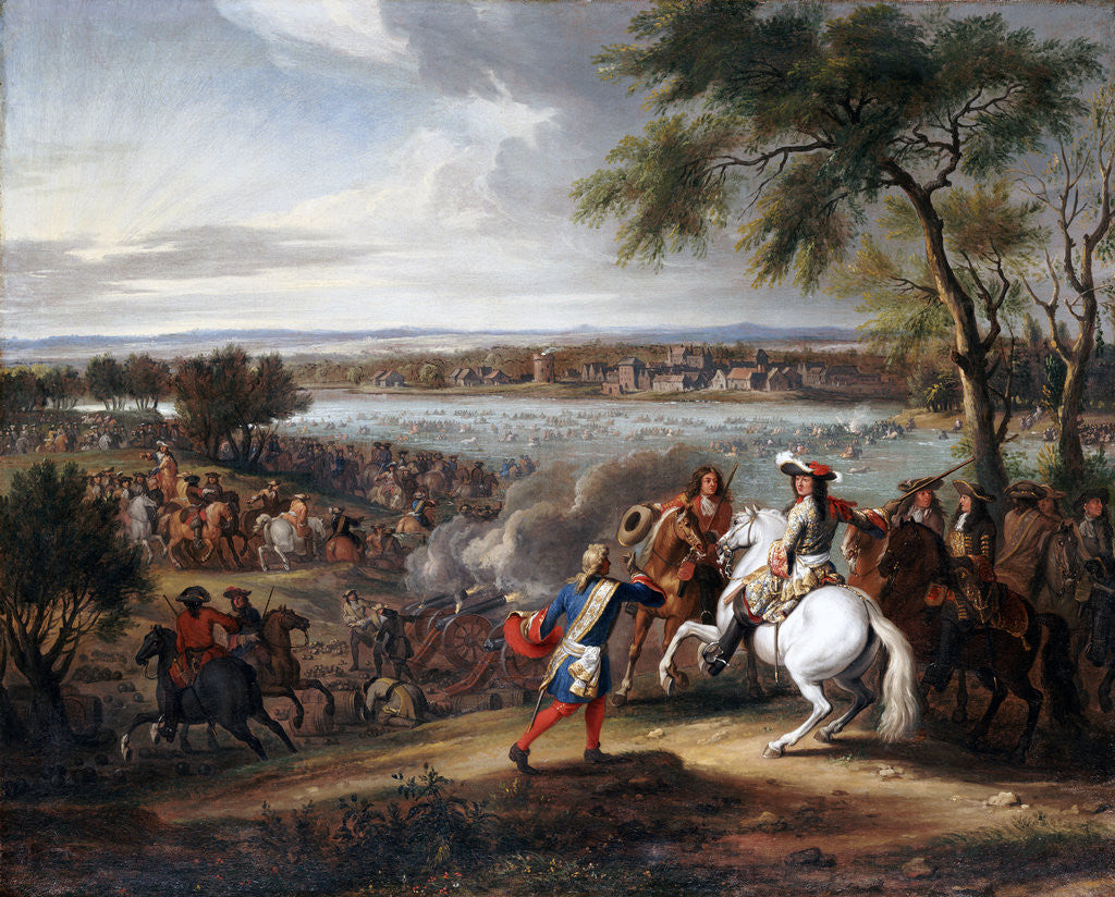 Detail of King Louis XIV of France Crossing the Rhine near Lobith on 12 June 1672 by Adam Frans van der Meulen